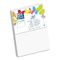 Carterie - Correspondance 20 Enveloppes gommee - 16.2 cm x 11.4 cm x 1.5 cm - 120g - Blanc