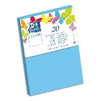 Carterie - Correspondance 20 Enveloppes gommee - 16.2 cm x 11.4 cm x 1.5 cm - 120g - Bleu Lagon