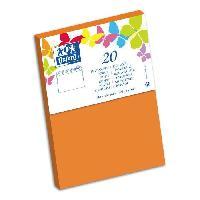 Carterie - Correspondance 20 Enveloppes gommee - 16.2 cm x 11.4 cm x 1.5 cm - 120g - Orange