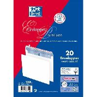 Carterie - Correspondance 20 enveloppes premium auto-adhesives - 22.9 cm x 16.2 cm x 2 cm