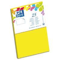 Carterie - Correspondance 25 Cartes - 12.8 cm x 8.2 cm x 0.7 cm - 240g - Jaune