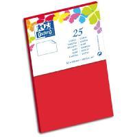 Carterie - Correspondance 25 Cartes - 12.8 cm x 8.2 cm x 0.7 cm - 240g - Rouge