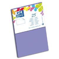Carterie - Correspondance 25 Cartes - 12.8 cm x 8.2 cm x 0.7 cm - 240g - Violet