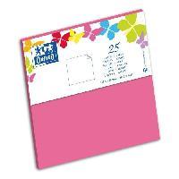 Carterie - Correspondance 25 Cartes - 15.5 cm x 15.5 cm x 0.7 cm - 240g - Rose