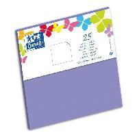 Carterie - Correspondance 25 Cartes - 15.5 cm x 15.5 cm x 0.7 cm - 240g - Violet