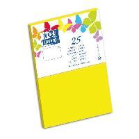 Carterie - Correspondance 25 Cartes - 15 cm x 10 cm x 0.7 cm - 240g - Jaune