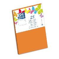 Carterie - Correspondance 25 Cartes - 15 cm x 10 cm x 0.7 cm - 240g - Orange