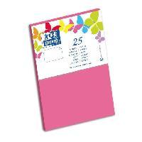 Carterie - Correspondance 25 Cartes - 15 cm x 10 cm x 0.7 cm - 240g - Rose
