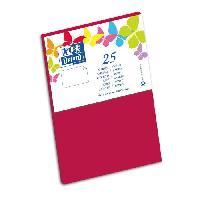 Carterie - Correspondance 25 Cartes - 15 cm x 10 cm x 0.7 cm - 240g - Rouge
