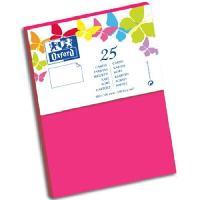 Carterie - Correspondance 25 Cartes de visite - 15 cm x 10 cm x 0.8 cm - 240g - Fuschia