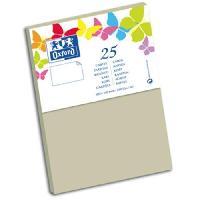 Carterie - Correspondance 25 Cartes de visite - 15 cm x 10 cm x 0.8 cm - 240g - Gris clair