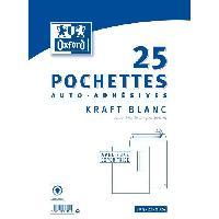 Carterie - Correspondance 25 Pochettes Kraft - 32.4 cm x 22.9 cm x 1.5 cm - Blanc