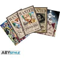Carterie - Correspondance Lot de 5 Cartes postales One Piece - Set 2 : Zoro Wanted & Co - 14.8 x 10.5 cm - Abystyle