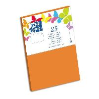 Carterie - Correspondance OXFORD 25 Cartes - 15 cm x 10 cm x 0.7 cm - 240g - Orange