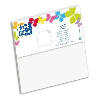 Carterie - Correspondance OXFORD 25 Cartes 15.5 cm x 15.5 cm x 0.7 cm - 240g - Blanc