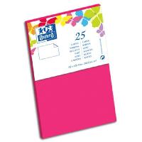 Carterie - Correspondance OXFORD 25 Cartes de visite - 12.8 cm x 8.2 cm x 0.8 cm - 240g - Fuschia
