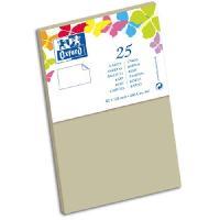Carterie - Correspondance OXFORD 25 Cartes de visite - 12.8 cm x 8.2 cm x 0.8 cm - 240g - Gris