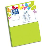 Carterie - Correspondance OXFORD 25 Cartes de visite - 15 cm x 10 cm x 0.8 cm - 240g - Vert