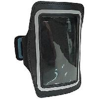 Casque - Ecouteur Filaire - Kit Pieton Gps Pack brassard et ecouteurs pour Galaxy S4 - Micro integre et controle du volume - Noir