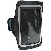 Casque - Ecouteur Filaire - Kit Pieton Gps Pack brassard et ecouteurs pour iPhone4 de sport pour iPhone 4 Micro integre et controle du volume - Noir