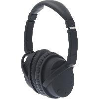 Casque - Microphone - Dictaphone APM Casque sans fil ANC : Active Noise Cancelling - Autonomie 15h - Noir