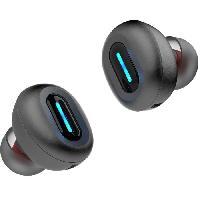 Casque - Microphone - Dictaphone DIVACORE NoMad+. Ecouteurs 100% sans fil avec PowerBank. Gris Ombre