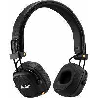 Casque - Microphone - Dictaphone MARSHALL Casque Bluetooth MAJOR III BLUETOOTH Noir