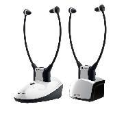 Casque - Microphone - Dictaphone Pack 2 casques TV GEEMARC CL7350 - Opti amplifié avec entrée optique - Jusqu'a 125dB - Pack Duo 2
