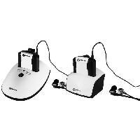 Casque - Microphone - Dictaphone Pack 2 casques TV GEEMARC CL7350 OptiClip - Avec entrée optique - Jusqu'a 120dB - Pack Duo 2