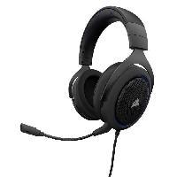 Casque  - Microphone CORSAIR Casque Gamer Filaire HS50 - Bleu -CA-9011172-EU-