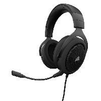 Casque  - Microphone CORSAIR Casque Gamer Filaire HS50 - Noir (CA-9011170-EU)