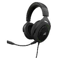 Casque  - Microphone CORSAIR Casque Gamer Filaire HS50 - Vert (CA-9011171-EU)