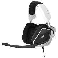 Casque  - Microphone CORSAIR Casque Gamer Filaire VOID PRO RGB USB - Blanc (CA-9011155-EU)
