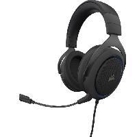 Casque  - Microphone CORSAIR Casque Gamer HS50 PRO STEREO - Filaire - Bleu -CA-9011217-EU-