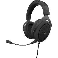 Casque  - Microphone CORSAIR Casque Gamer HS50 PRO STEREO - Filaire - Carbone -CA-9011215-EU-