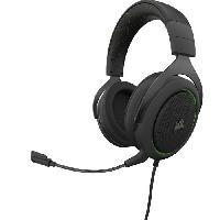 Casque  - Microphone CORSAIR Casque Gamer HS50 PRO STEREO - Filaire - Vert -CA-9011216-EU-