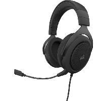 Casque  - Microphone CORSAIR Casque Gamer HS60 PRO SURROUND - Filaire - Carbone -CA-9011213-EU-
