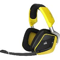 Casque  - Microphone CORSAIR Casque Gamer Sans Fil VOID PRO RGB Wireless Special Edition - Jaune (CA-9011150-EU)