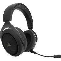 Casque  - Microphone CORSAIR Casque Gamer Sans fil HS70 Noir -CA-9011175-EU-