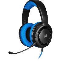 Casque  - Microphone CORSAIR HS35 Casque de gamer STEREO - Bleu -CA-9011196-EU-