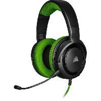 Casque  - Microphone CORSAIR HS35 Casque de gamer STEREO - Vert -CA-9011197-EU-
