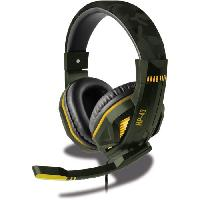 Casque  - Microphone Casque Filaire SteelPlay HP43 Green Camouflage - Multiplateforme - Atari
