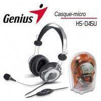 Casque  - Microphone GENIUS Micro-Casque Arceau - Filaire - Stereo - Gris