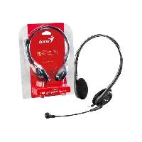 Casque  - Microphone GENIUS Micro-Casque HS-200C - Filaire - Stereo - Gris