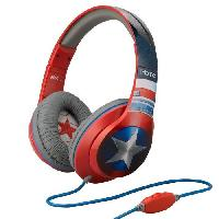 Casque Audio Enfant CAPTAIN AMERICA casque audio enfant Stereo - Microphone integre - Ihome