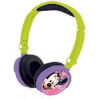 Casque Audio Enfant LEXIBOOK - MINNIE - Casque Audio Stereo. Puissance sonore Limitee. Pliable et Ajustable