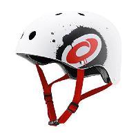 Casque De Glisse - Trottinette - Skate - Patin A Roulette Casque de skateboard - Mixte - Blanc. rouge et noir - XL