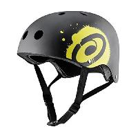 Casque De Glisse - Trottinette - Skate - Patin A Roulette Casque de skateboard - Mixte - Noir et jaune - L