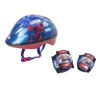 Casque De Glisse - Trottinette - Skate - Patin A Roulette DARPEJE SPIDERMAN Set de protections pour enfant