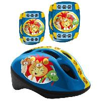 Casque De Glisse - Trottinette - Skate - Patin A Roulette LES ANIMAUX DE LA JUNGLE Pack Protection - Casque - Genouilleres - Coudieres - Stamp